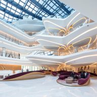 Zaha Hadid Architects reveals interiors of ME Dubai hotel at the Opus