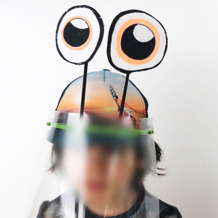 Children's face shield by Metaform Architects