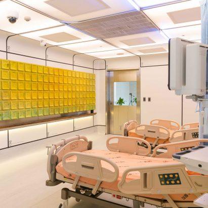 Modular hospital ward concept by Miniwiz, Taiwan's government and Fu Jen Catholic University Hospital