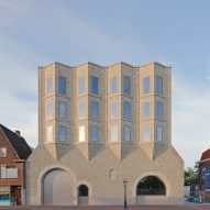 Museum de Lakenhal given redesign and concertina-style pale brick extension