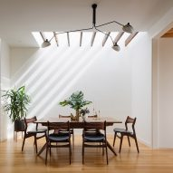Woodwork and skylights stream light into Noe Valley Residence in San Francisco