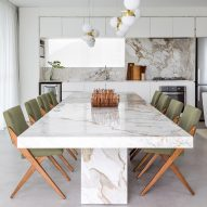 Leandro Garcia outfits Praia Mansa Apartment with Brazilian marble and local designs