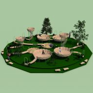"Rimbin is an ""infection-free"" playground concept designed to look like water lilies"