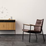 "Ritzwell's latest furnishings reflect the ""harmonious dialogue"" between wood and leather"