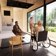 Scott Brownrigg's Social Contact Pod would let people visit vulnerable family during pandemic