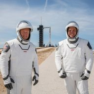 """NASA revives """"worm"""" logo and debuts SpaceX spacesuits"""