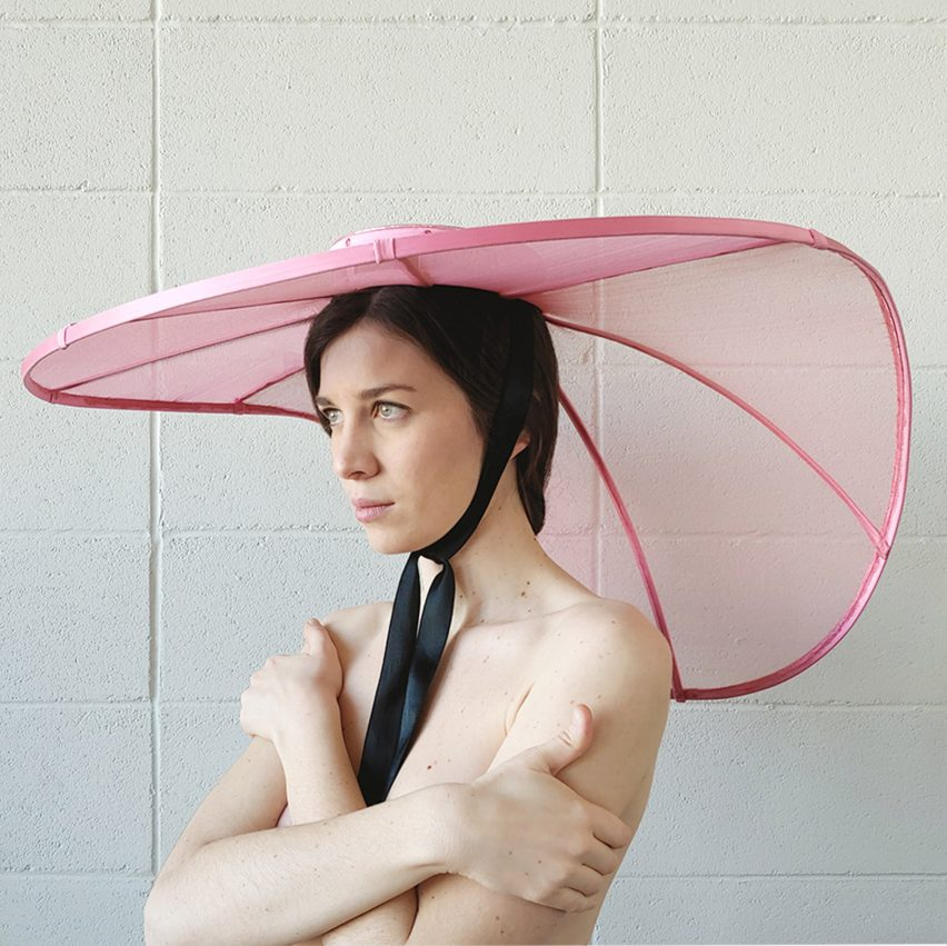 Veronica Toppino's social distancing Structure hats are an expression of shielded extravagance