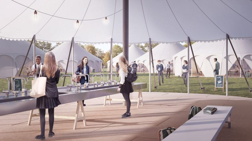 Curl la Tourelle Head proposes tent classrooms to allow social distancing in schools