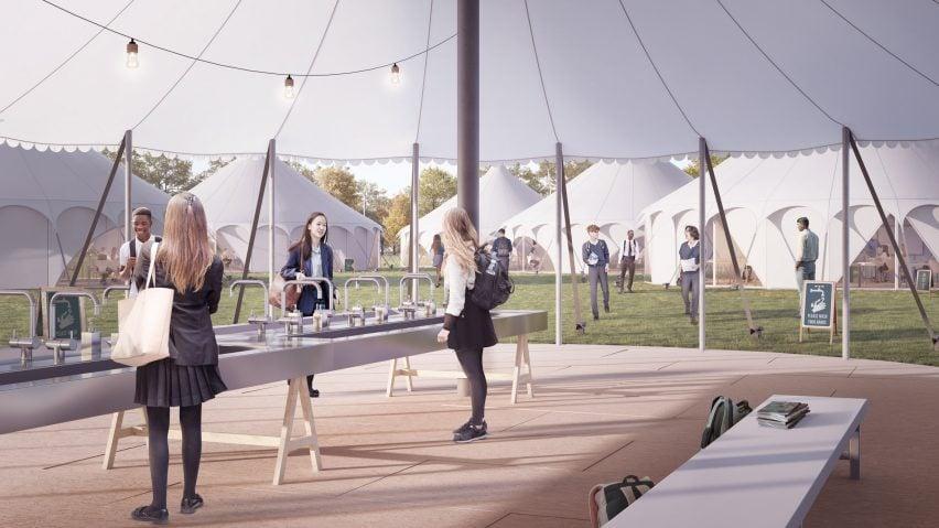 Curl la Tourelle Head proposes tent classrooms to allow social distancing in schools