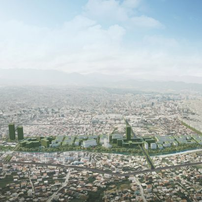 Tirana Riverside, coronavirus-resilient neighbourhood in Tirana, Albania, by Stefano Boeri Architetti