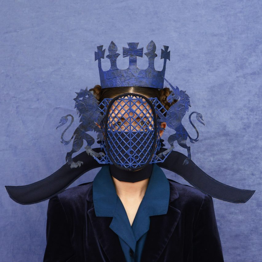 Freyja Sewell's Key Workers masks take cues from motifs in sci-fi and Buddhism