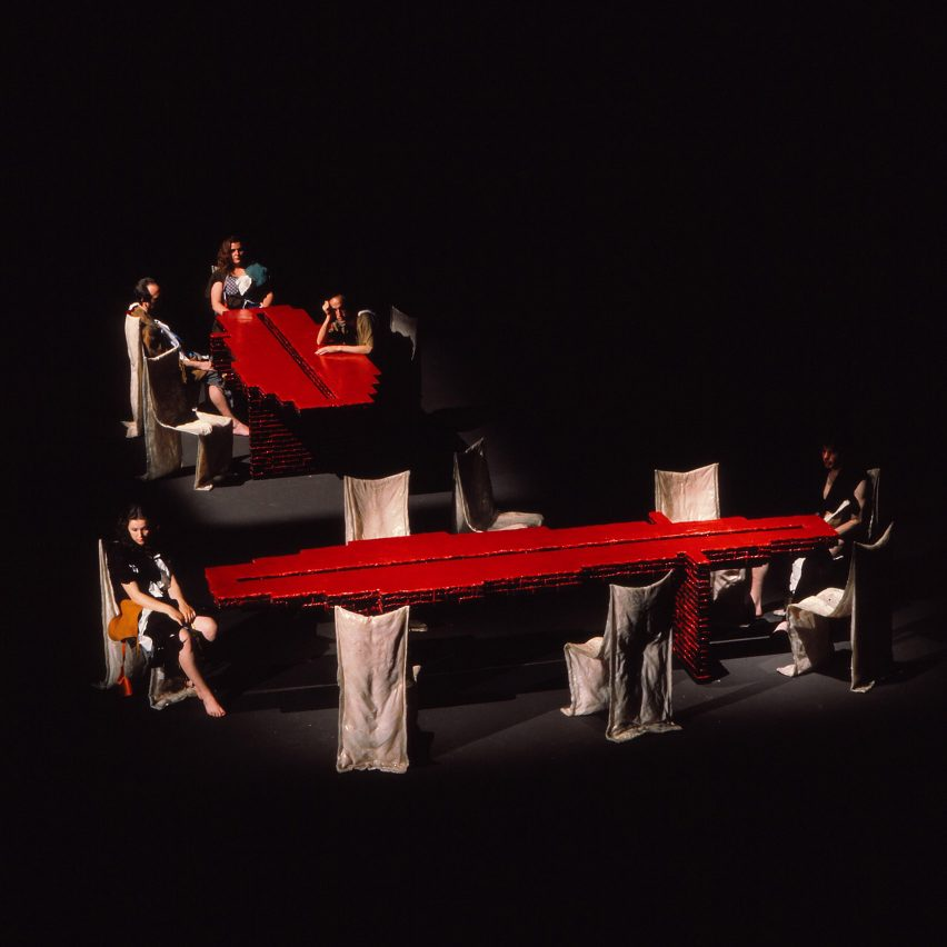Golgotha table and chairs by Gaetano Pesce