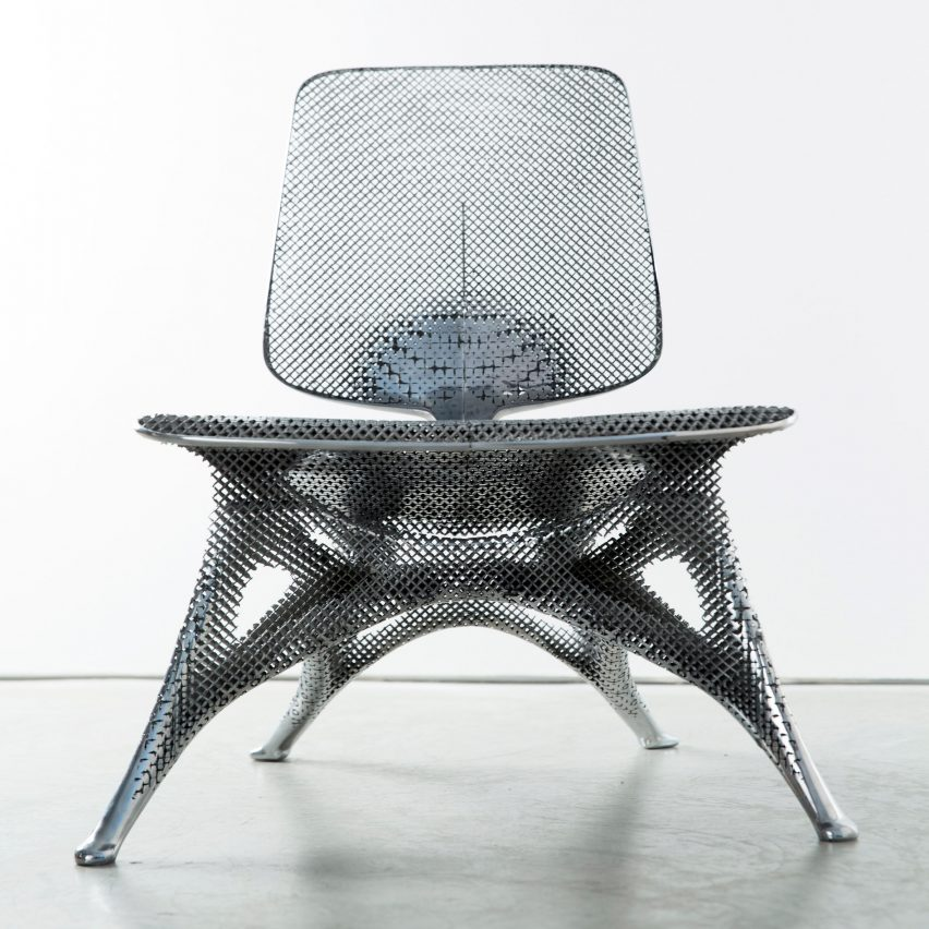 Aluminium Gradient Chair by Joris Laarman