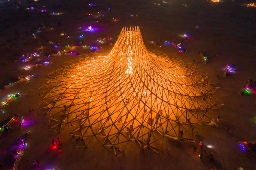 Arthur Mamou-Mani's Galaxia temple for Burning Man 2018