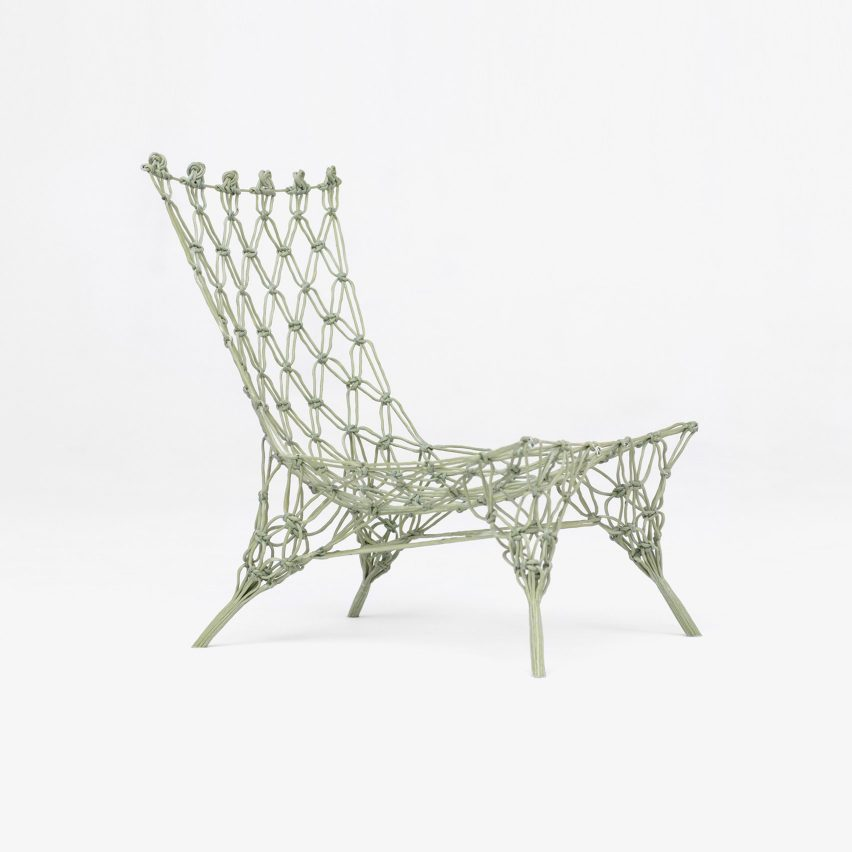 Knotted Chair by Marcel Wanders was presented by Droog