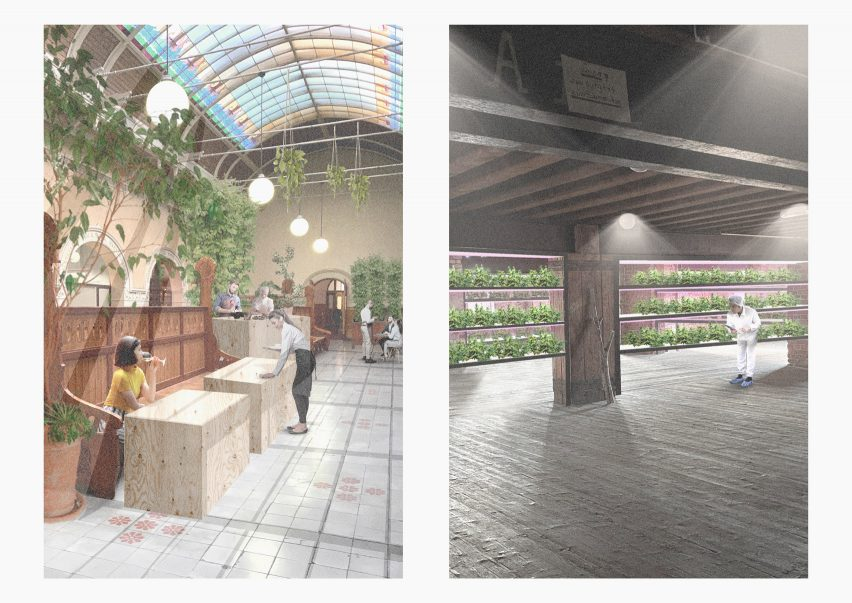 Vertical farm and restaurant by Elli Hirvonen