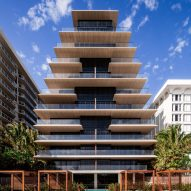 Stacked balconies wrap Antonio Citterio's Arte tower in Miami Beach