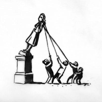 Banksy proposes reinstating Edward Colston statue as part of memorial to slavery