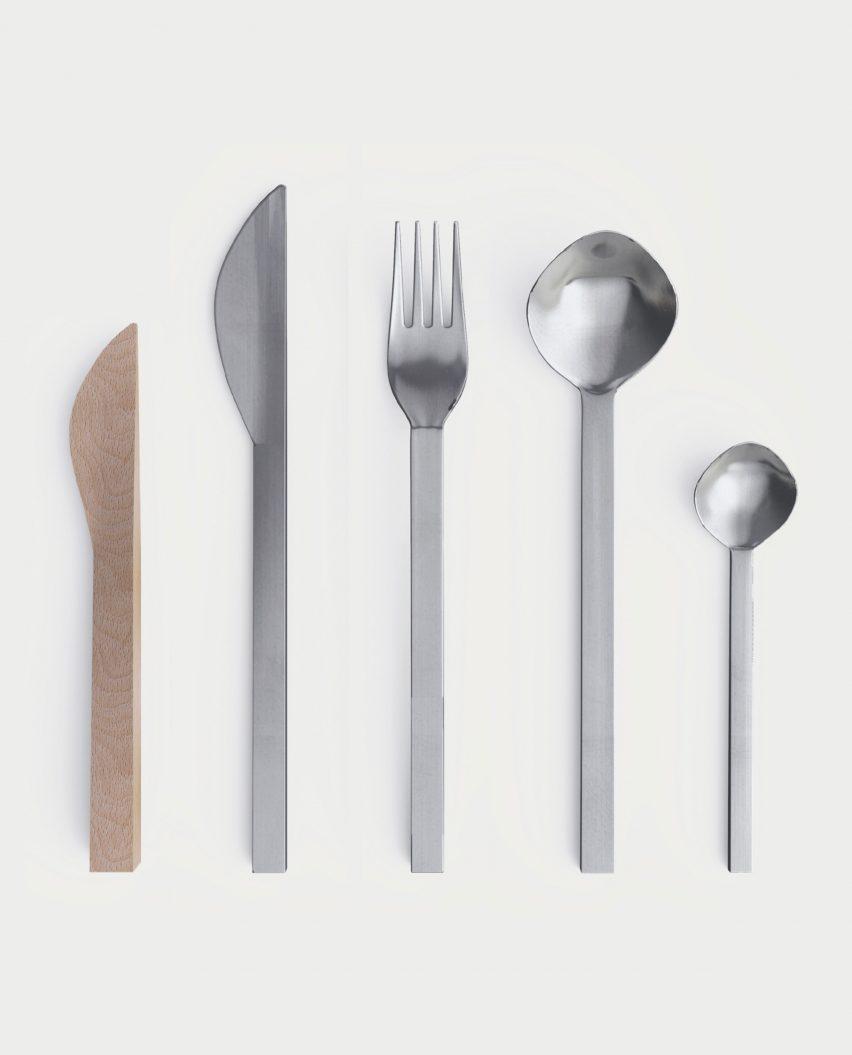 Geo cutlery by Sissel Gram Warringa