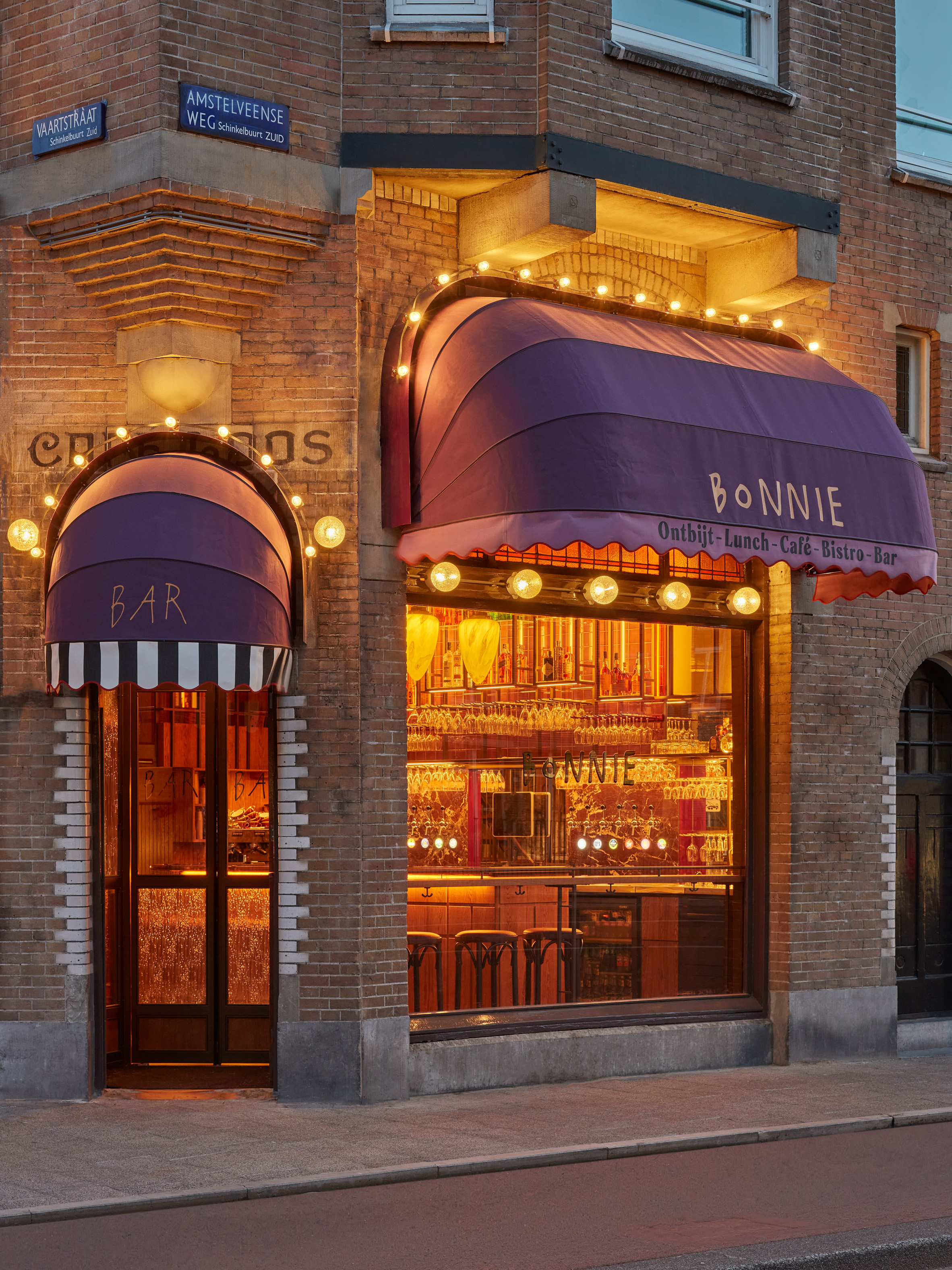 Bonnie restaurant in Amsterdam designed by Studio Modijefsky