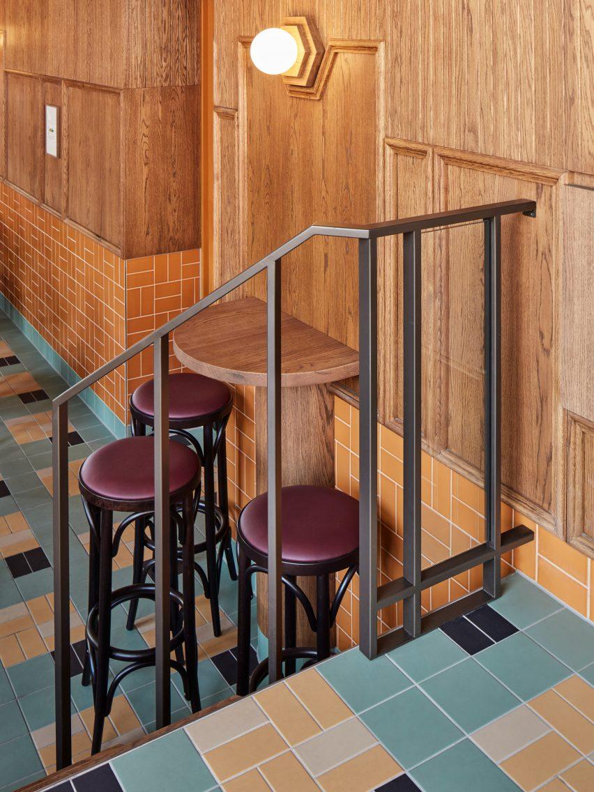 Bonnie restaurant in Amsterdam designed by Studio Modijefsky