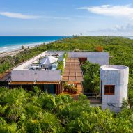 Productora designs Casa Bautista on beach in Tulum nature preserve