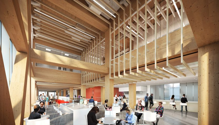 Dialog Designs Mass Timber Net Zero Carbon College Building For Canada