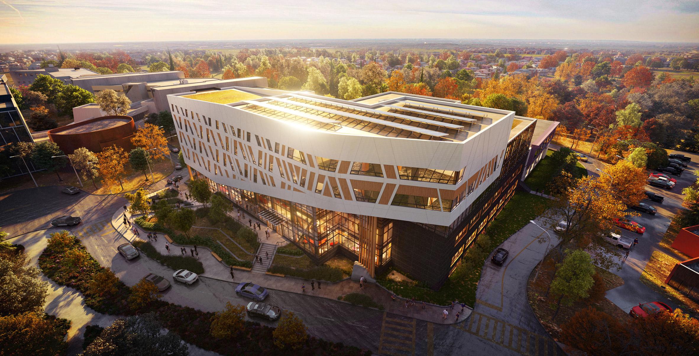 Dialog Designs Mass Timber Net Zero Carbon College Building For Canada