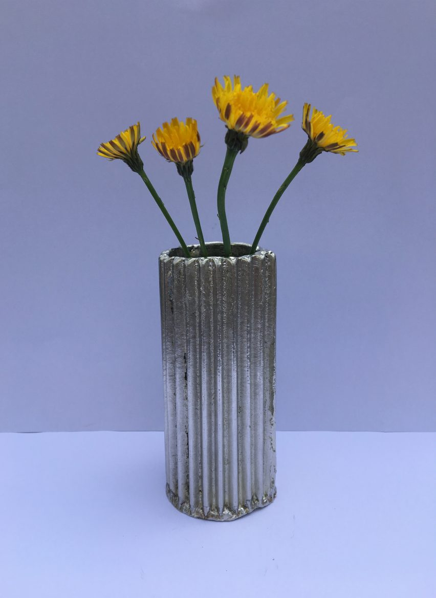 Cardboard Vase by Cathy Wolter