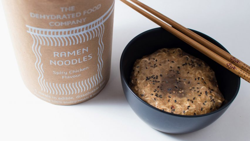 Edible, Dissolvable Noodle Pack by Holly Grounds