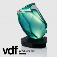 Lasvit collection at VDF products fair features table lamp modelled on Kryptonite