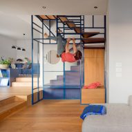 Deferrari+Modesti designs rock climbing-themed staircase for villa in Tuscany