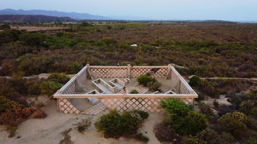 Descended from another sun pavilion at Casa Wabi by Gabinete de Arquitectura