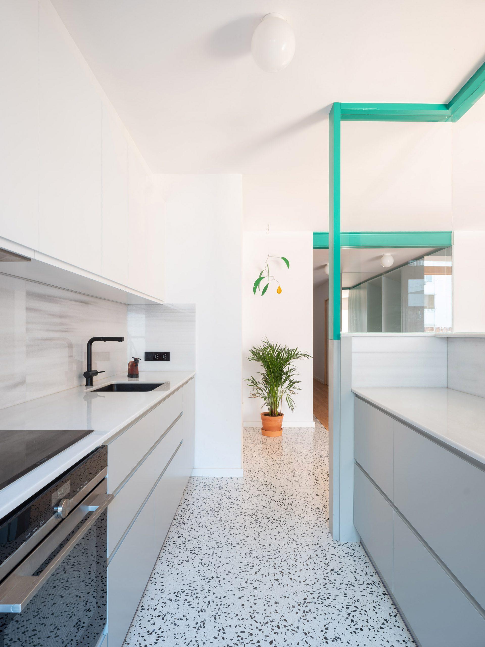 Terrazzo floor in Spanish apartment