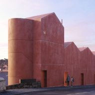 Caiano Morgado Arquitectos designs red-concrete housing in Vila Nova de Gaia