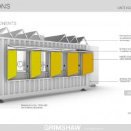 D-Tec shipping-container coronavirus-testing centres by Grimshaw and SG Blocks for Osang