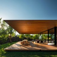 Olson Kundig Hale Lana house rises above lava field in Hawaii