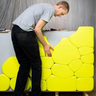 Hem reveals design process behind Soft Baroque's Puffy Brick counter