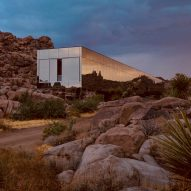 Mirror-clad Invisible House reflects its desert surrounds