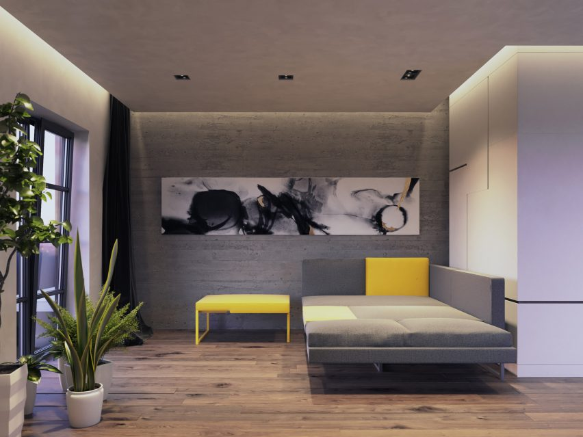 Jak Studio's L20 sofa concept doubles up as a private work pod