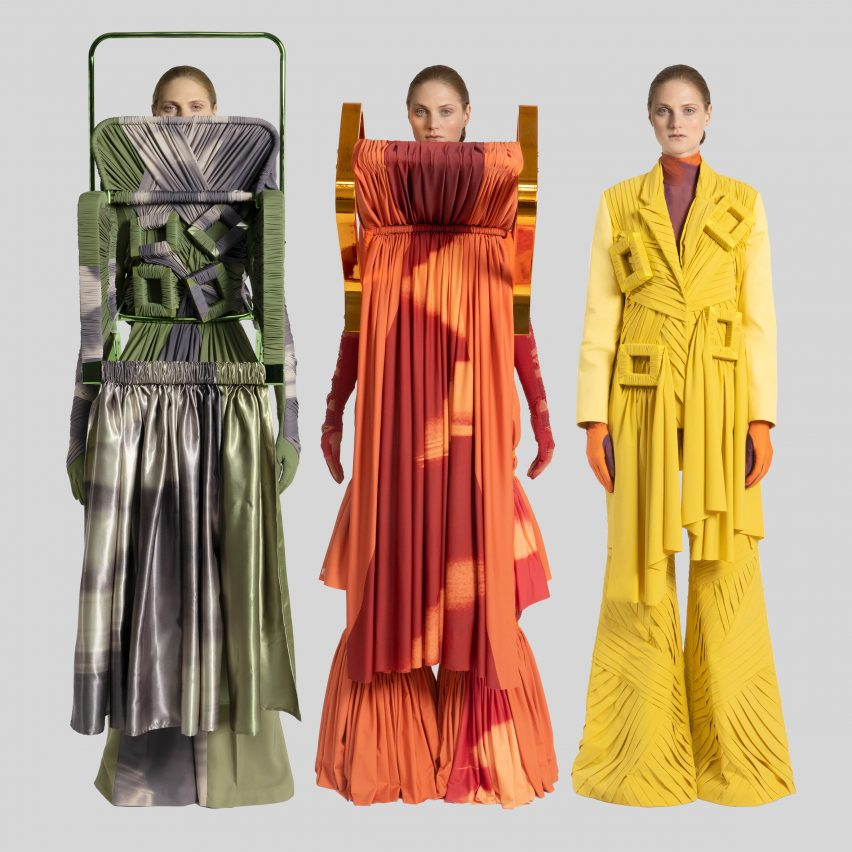 Jessan Macatangay Makes Fashion Collection From Drapery And Deconstructed Furniture Architecture Design Competitions Aggregator