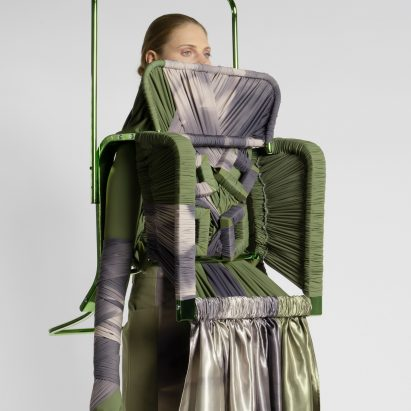Jessan Macatangay makes fashion collection from drapery and deconstructed furniture