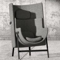 Kite armchair by Nendo for Stellar Works