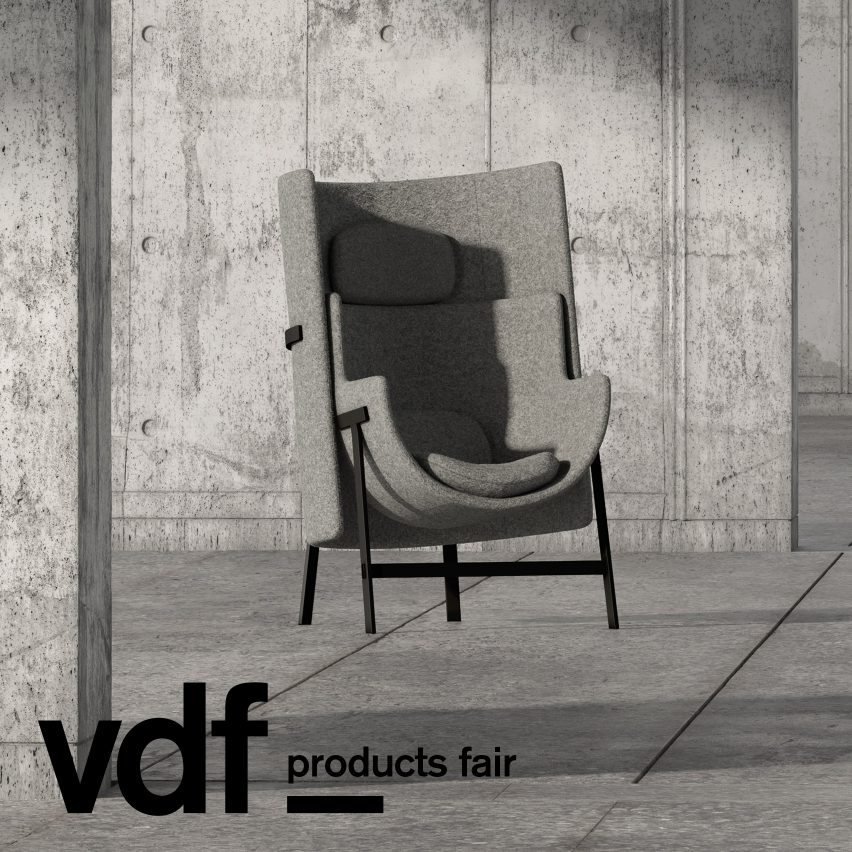 Stellar Works' VDF products fair showcase features chairs by Nendo and Neri&Hu