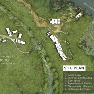 Marine Education Center at the Gulf Coast Research Laboratory by Lake Flato Architects Site Plan