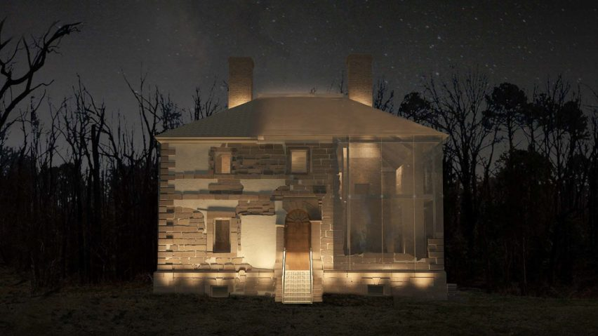 Menokin Glass House Project by Machado Silvetti