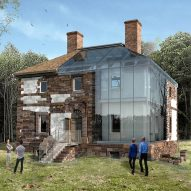 Machado Silvetti designs glass enclosure for Virginia home of signer of Declaration of Independence