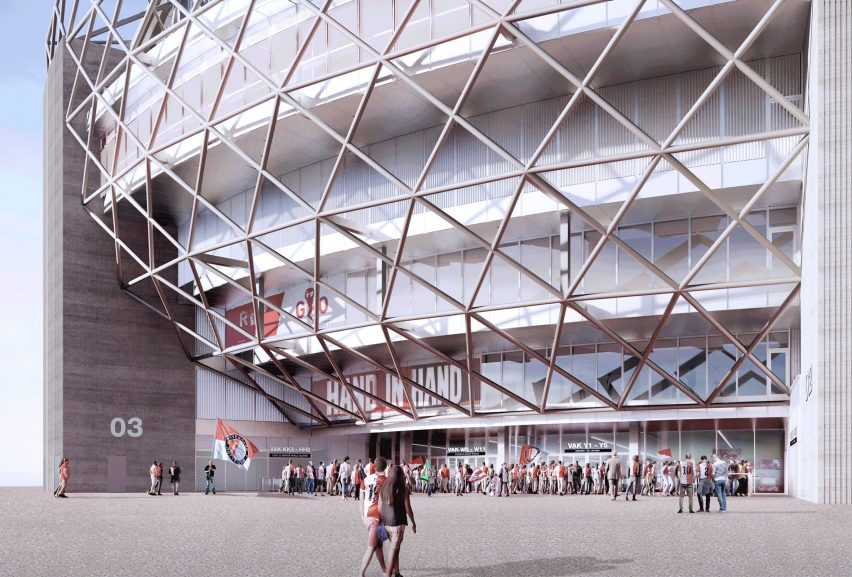 Feyenoord Stadium by OMA and LOLA Landscape Architects