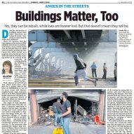 "US newspaper apologises for offensive ""Buildings Matter, Too"" headline on column by architecture critic"