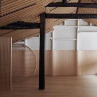 Air Architects lines Hangzhou's Random Art Space in light-hued oakwood